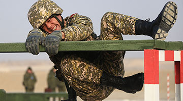 SCO joint mountain infantry training rounds off in Xinjiang