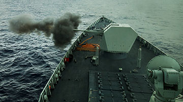 CNS Kunming, Hefei conduct live-fire exercise in South China Sea