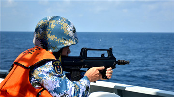 Chinese naval escort taskforce holds live-fire drill of using weapons