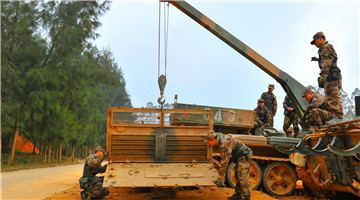 Armored regiment conducts rush repair training