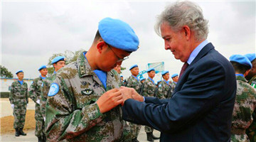 Chinese peacekeepers to Liberia win UN peace medals