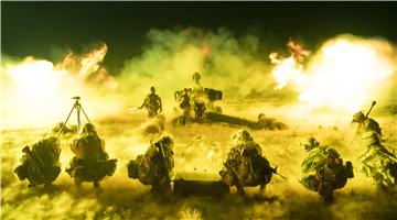 Towed howitzer systems spite fires in Firepower-2017 Qingtongxia exercise