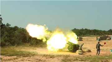 Towed howitzer systems deploy fires in training