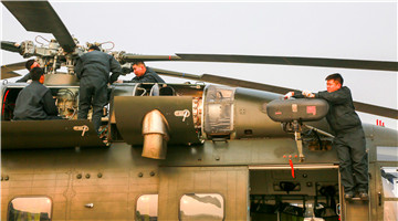 Army aviation brigade conducts phase maintenance on helicopters
