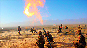 Army brigade conducts exercise near Qilian Mountain
