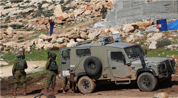Israeli army demolishes Palestinian house partially near West Bank city