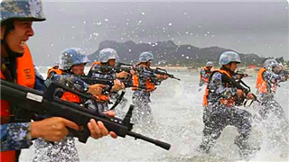 PLA Marine Corps conducts massive groundbreaking maneuvers