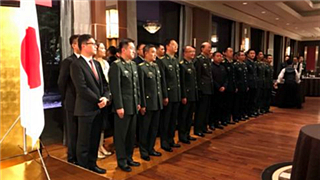 Chinese military officer delegation visits Japan