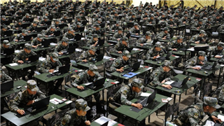 PLA Army holds professional skill competition for staff officers