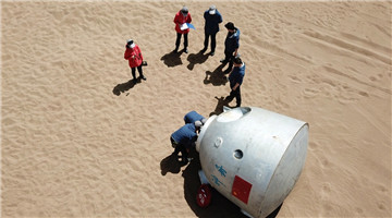 Chinese astronauts complete desert survival training