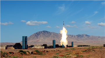 Artillerymen prepare S-300 surface-to-air missile system