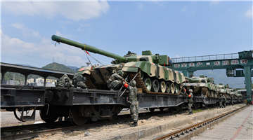 Soldiers prepare for long distance railway transportation
