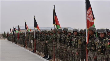 Afghan army soldiers take part in graduation ceremony in Balkh