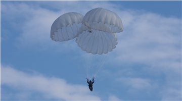 Paratroopers practice proper free fall technique