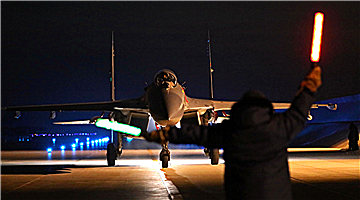 Fighter jets' night flight