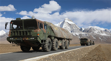 Multiple launch rocket systems fire in Xizang' high altitude region
