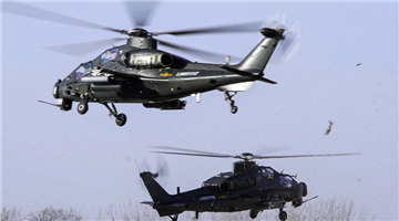 Helicopters participate in round-the-clock flight tasks