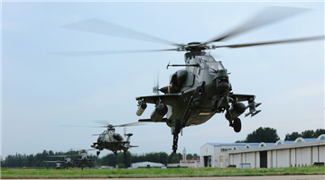 Attack helicopters engage in last-minute inspections