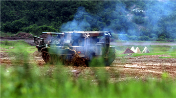 Sappers launch mine-clearing line charge