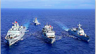 PLA fleet returns to homeport from far-sea training