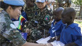 UN releases video and photos to thank Chinese peacekeeping troops