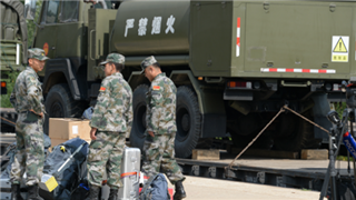 Train with military hardware from China arrives in Alabino to participate in Tank Biathlon
